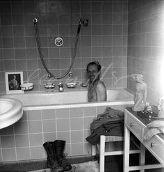 David E. Scherman in Hitler's bath LeeMiller - 496 | LeeMiller