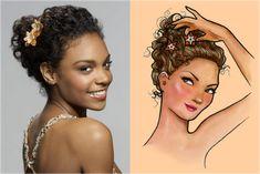 Modelos de acessórios para cabelos cacheados