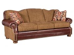 Shop for King Hickory Maxwell Lthr/Fabric Sofa, 55350-LF, and other Living Room Sofas at Bartlett Home Furnishings in Memphis, Tennessee 38134. Seat Cushions: High Resiliency, Back Pillows: Semi-attached, Throw Pillows: 2 P21, Nail Head Trim: Natural.