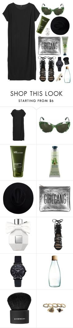 """""""Untitled #1898"""" by katerina-rampota ❤ liked on Polyvore featuring Monki, Dolce&Gabbana, Origins, Crabtree & Evelyn, Viktor & Rolf, Steve Madden, Retap and Givenchy"""