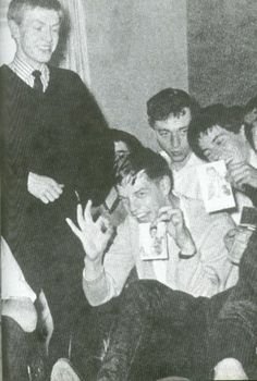 Brian Jones, Mick Jagger and Keith Richards in 1961 ... OMG!!  Such babies ...