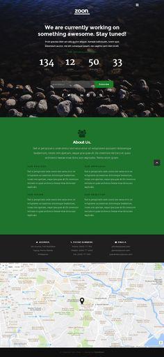 Скачать бесплатно шаблон Zoon – бесплатный адаптивный HTML5 шаблон целевой страницы