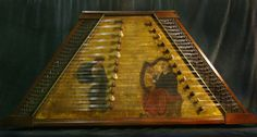 17th Century painted top Hammered Dulcimer