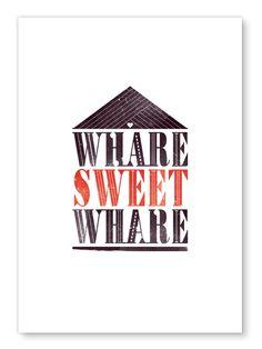 Image of Whare Sweet Whare - Erupt prints NZ