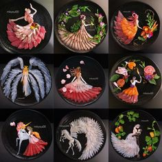 Japanese Dad Makes Breathtaking Sashimi Art for His Family to Teach His Kids to . - Japanese Dad Makes Breathtaking Sashimi Art for His Family to Teach His Kids to Appreciate Food - Easy Food Art, Amazing Food Art, Food Art For Kids, Cute Food Art, Creative Food Art, L'art Du Sushi, Sashimi Sushi, Sushi Art, Sushi Kunst