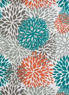outdoor fabric for neck roll cushion - 'vibe petal aqua' $35 per metre