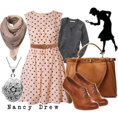 Nancy Drew inspired outfit - everything is cute Cute Fashion, Fashion Outfits, Womens Fashion, Fashion Shoes, Girl Fashion, Mode Style, Style Me, Textiles Y Moda, Vintage Outfits