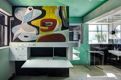 Image 4 of 5 from gallery of Eileen Gray, Le Corbusier, and the House: A Tale of Architecture and Scandal. Photograph by Manuel Bougot Eileen Gray, Arch Decoration, Cap Decorations, Le Corbusier, Mural Art, Wall Murals, Gray Interior, Interior Design, Interior Ideas