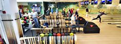 Green Furniture Sweden- Nova C with Backrest at Down Town Bowling, Porsgrunn, Norway  #greenfurnituresweden #greenfurniture #ecofurniture #ecodesign #novacwithbackrest #downtownbowling
