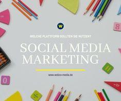 Es steht außer Frage, dass Social Media ein notwendiges Marketinginstrument für jedes Unternehmen ist, das in der heutigen geschäftigen Online-Welt relevant und sichtbar bleiben möchte. Weiter lesen auf WebCo Media!⬆️ Social Media Plattformen, Marketing, Social Media, Business, Target Audience, Reading, World
