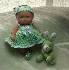 """5"""" Berenguer Doll Dressed in Her Spring Time Outfit 