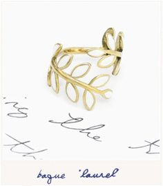 Gold Leaves Ring.
