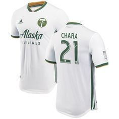 promo code c91fb 8476d Men s Portland Timbers Diego Chara adidas White 2018 Secondary Authentic  Player Jersey