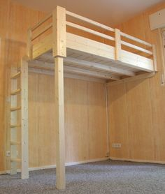 Loft bed Berlin, custom-made beds, custom-made, mezzanine floors, children& . - bed # walk-in closet # BerlinMade-made Source link Build A Loft Bed, Loft Bed Plans, Murphy Bed Plans, Bench Plans, Loft Room, Bedroom Loft, Bedroom Decor, Bunk Bed Designs, Teen Girl Bedrooms