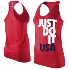ThanksNike Team USA London 2012 Ladies Just Do It Racerback Tank Top - Red    gimme!! awesome pin