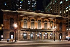 The Academy of Music - The oldest known continuously operating opera house in the United States.  Constructed in 1857, It has served for the last 147 years as Philadelphia's premier opera house and has served as a home to The Philadelphia Orchestra and The Pennsylvania Ballet.