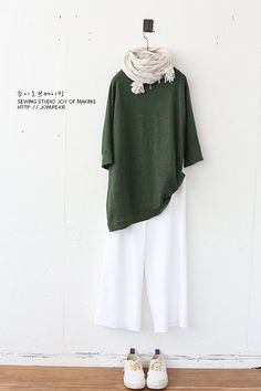 Japanese Streets, Japanese Street Fashion, Olive Clothing, Cotton Pants, Cute Outfits, Tunic Tops, Women's Fashion, Street Style, Blouse