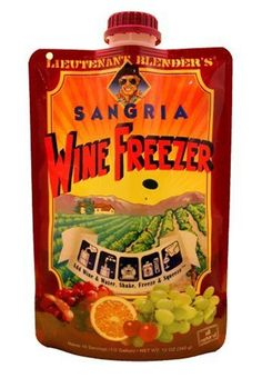 http://wine-merchant.com/lt-blenders-wine-freezer-sangria-9-7-ounce-pouches-pack-of-3/ Add wine & water, shake, freeze & squeeze. Makes 16 servings (1/2 gal). The Lieutenant Blender Story: Following a successful Caribbean campaign, Lt. Blender and his stalwart band of troopers found themselves in California for advanced training. One partic