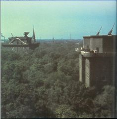 anti-aircraft tower in Berlin in the Park Tiergarten. This 6-storey tower could accommodate 8,000 people. Pin by Paolo Marzioli