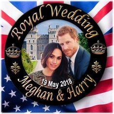 "PRINCE HARRY~MEGHAN MARKLE~ ROYAL WEDDING SOUVENIR ~2.2""/55 mm FRIDGE MAGNET"