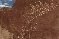 The hieroglyph is an etching on sandstone in the four corners area near Oraibi, Arizona.  It is legended to be the Prophecy Rock. To the Hopi it is a Life Plan.