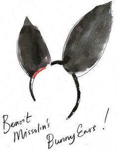 Blue Logan fashion illustration, bunny ears, Louis Vuitton Bunny Ears 2009