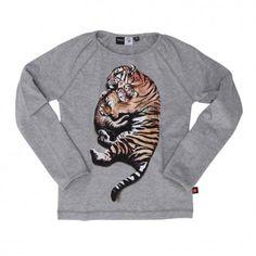 670d69fdfd6b Molo / Lucia Nightwear Set SS15-Fin grå pyjamas med sovande tigrar från Molo