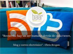 Las empresas agrarias que entienden el social media son las que dicen con su mensaje: me importas, te comprendo y aportan soluciones. www.bialarblog.com - info@bialar.com