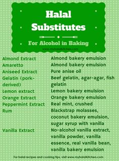 Substitutes for Alcohol in Baking - My Halal Kitchen | Inspiration for Wholesome Living - with Yvonne Maffei