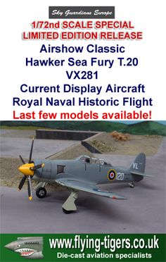 WTW72-025-0B New 1/72nd Scale Hawker Sea Fury T.20 'Current RNHF Display Aircraft' - Magnificent new UK Airshow Special, Last few available now.