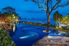 Main Pool at Night at Vana Belle, Koh Samui