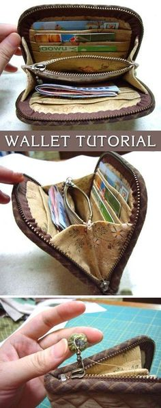Accordion Purse / Wallet Tutorial in pictures.I'm looking to make a duplicate of my falling apart wallet and this might have some useful hints about wallet constructionAccesories, Jewerly & Fashion: How should we combine handbags and wallets?Wallet-T Sew Wallet, Purse Wallet, Patchwork Bags, Quilted Bag, Diy Sac, Purse Patterns, Tote Pattern, Sewing Patterns, Diy Wallet Pattern