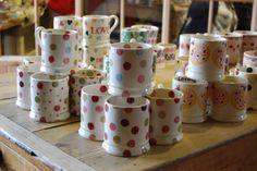 Established in 1985, Emma Bridgewater produce beautiful yet practical hand-made pottery for a relaxed, colourful, mismatched life. www.emmabridgewater.co.uk Johnson Tiles, Emma Bridgewater, Stoke On Trent, Great British, Royal Doulton, Wedgwood, Love, Pottery, Ceramics