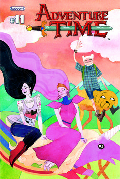 Kevin Wada's cover of adventure time is an interesting rendition because it keeps the typeface which is different to the illustration but works on the piece because it exalts.