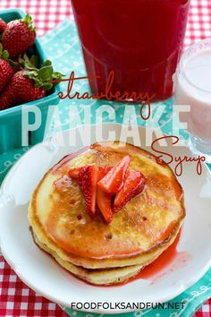 Move over IHOP, this homemade Strawberry Syrup is amazing! #StrawberrySeason #foodfolksandfun