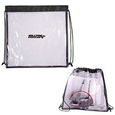 Promotional All Access Small Drawstring Backpack Item (Min Qty: Customize your Promotional Clear Drawstring Bags with your company logo and with no setup fees. Tote Backpack, Drawstring Backpack, New Nfl Stadiums, Custom Drawstring Bags, Promotional Bags, Clear Bags, Pvc Material, Branded Bags, Carry On Bag