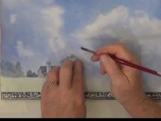 Skies and Clouds in Watercolor First Wash - YouTube