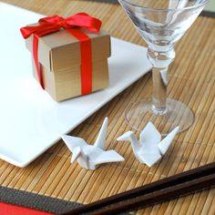 Gorgeous mini origami - lovely different party setting