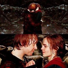 Hermione and Ron!! The most epic love story ❤❤