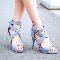 Silber Grau Punkt Zehe Stilett Bogen Mode Schuhe mit hohen