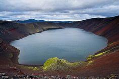 Llac volcànic de Ljótipollur, Landmannalaugar, Islàndia