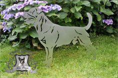 Edelstahl Gartenaufsteller Rottweiler