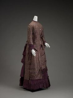 Dress ca. 1887 via The Indianapolis Museum of Art