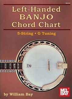 Left-Handed Banjo Chord Chart 5-String G Tuning