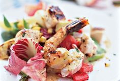 Grilled Veggie Salad with Seafood & Chicken by oprah
