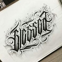 Cursive Tattoos, Tattoo Lettering Styles, Chicano Lettering, Tattoo Script, Book Tattoo, Types Of Lettering, Graffiti Lettering, Word Tattoos, Tattoo Fonts
