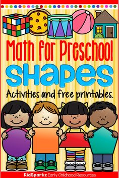 Shapes activities, printables, centers and games for preschool, pre-K and Kindergarten at KidSparkz Preschool Prep, Numbers Preschool, Preschool Learning Activities, Preschool Curriculum, Preschool Printables, Preschool Lessons, Free Printables, Toddler Activities, Bears Preschool