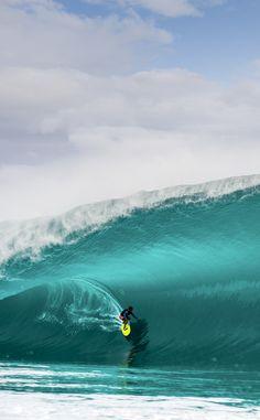 2015 Big Wave Awards Tube nominee Matah Drollet at Teahupo'o Photo | Julien Girardot