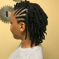 Natural twists up do. Natural Braided Hairstyles, Natural Hair Braids, Natural Hair Twists, Straight Hairstyles, Hair Twist Styles, Braid Styles, Curly Hair Styles, Natural Hair Styles For Black Women, My Hairstyle