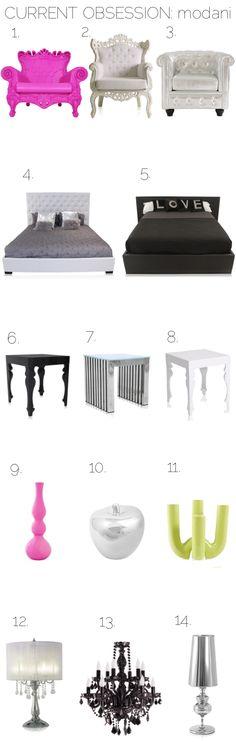 Current Obsession: Modani via Blonder Ambitions {www.blonderambitions.com}. Furniture. Interior design. Decor. Baroque. Modern.